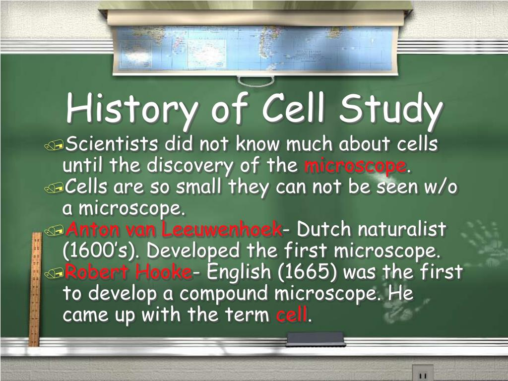 History of Cell Study