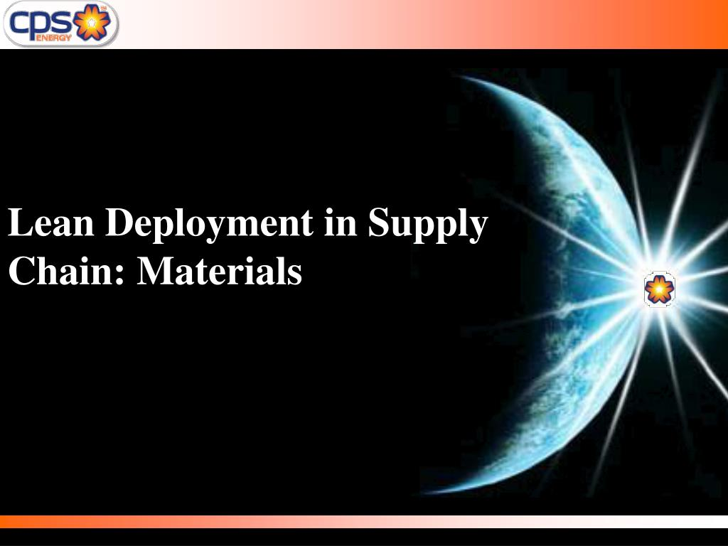 lean deployment in supply chain materials l.