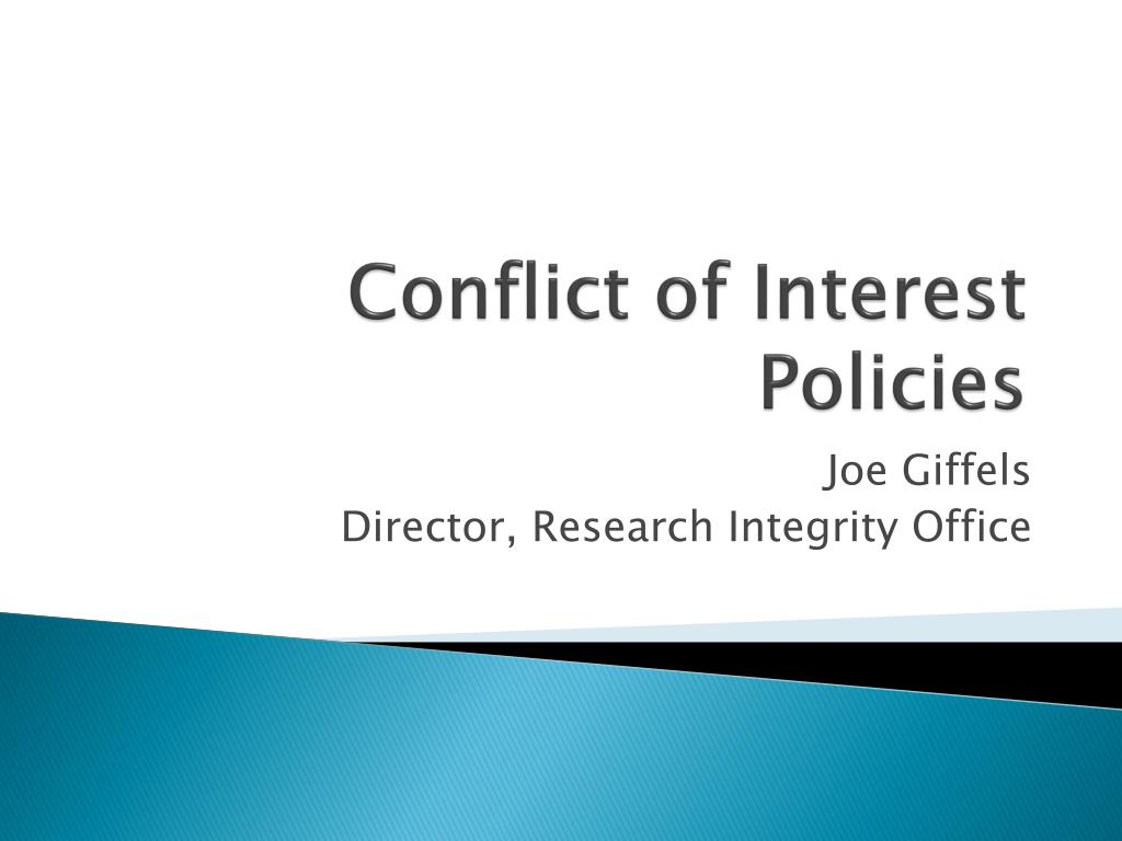conflict of interest policies l.