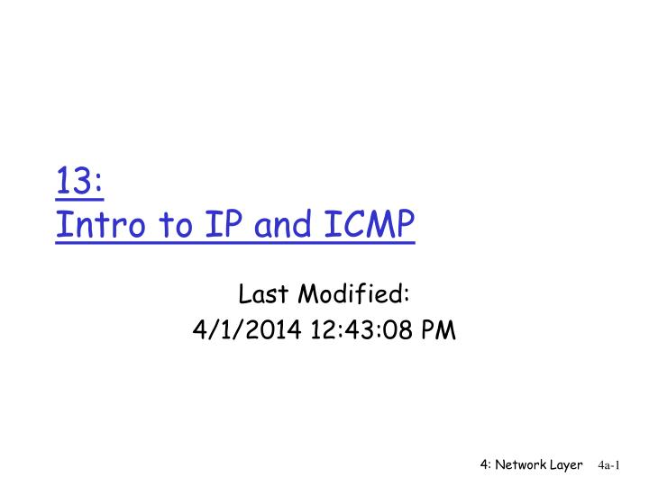 13 intro to ip and icmp n.