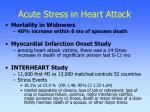 acute stress in heart attack