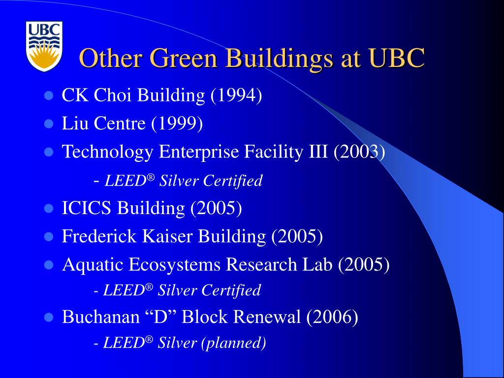 Other Green Buildings at UBC