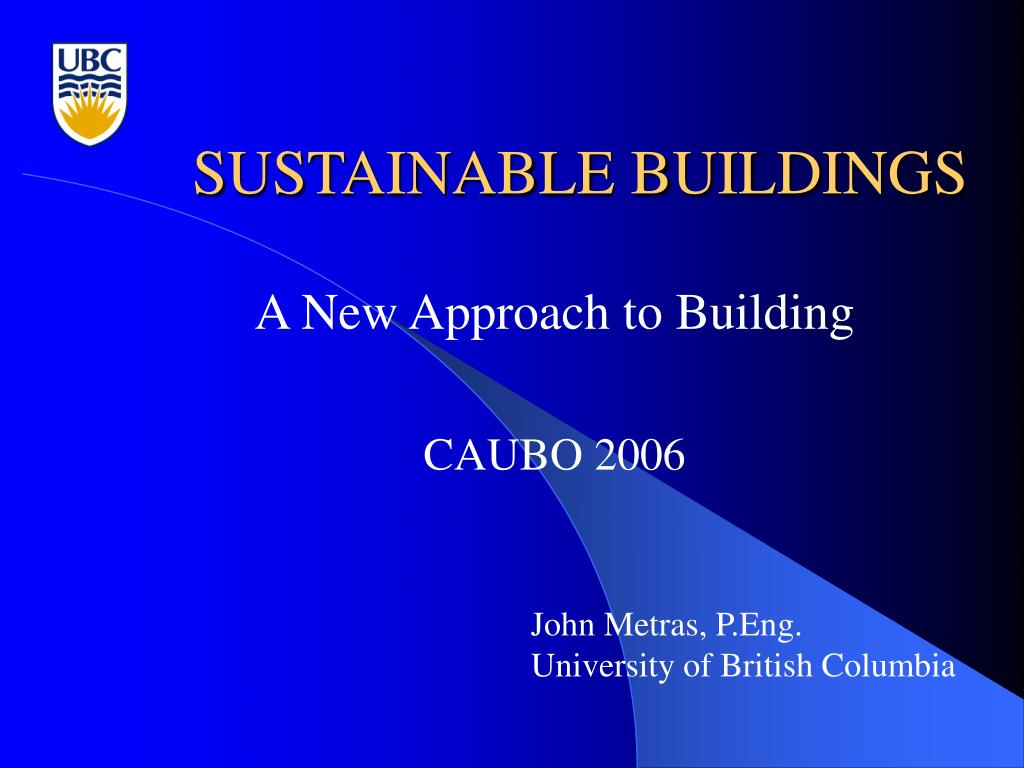 sustainable buildings l.