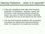 hearing protection when is it required