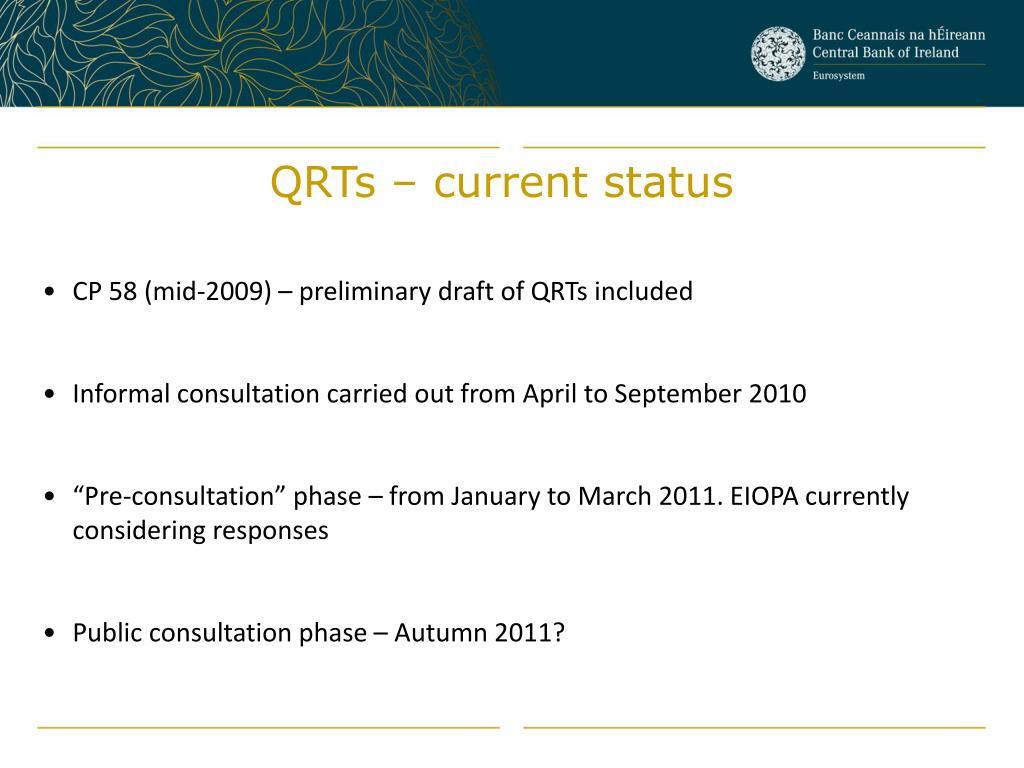 QRTs – current status