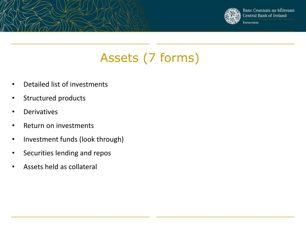 Assets (7 forms)