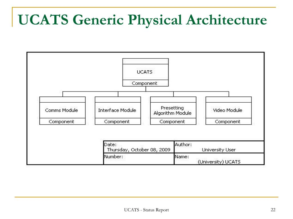 UCATS Generic Physical Architecture