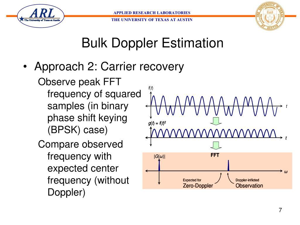 Bulk Doppler Estimation