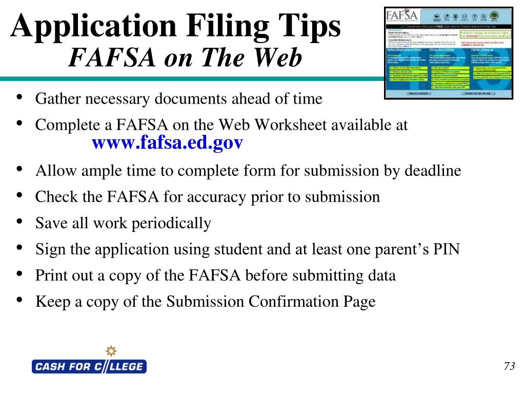 Application Filing Tips