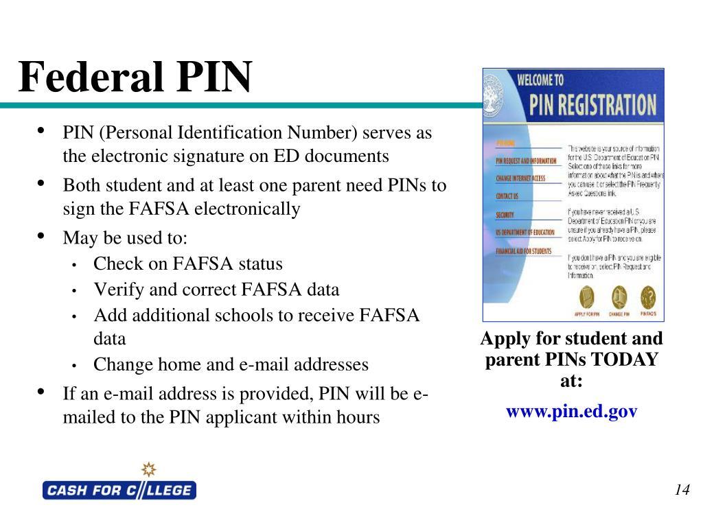 Federal PIN