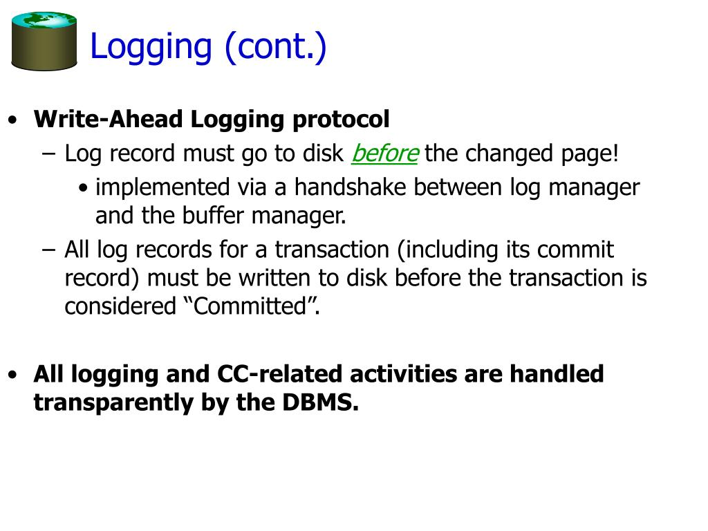 Logging (cont.)