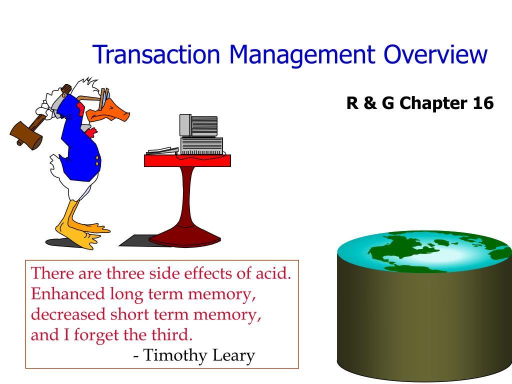 Transaction Management Overview
