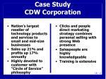 case study cdw corporation