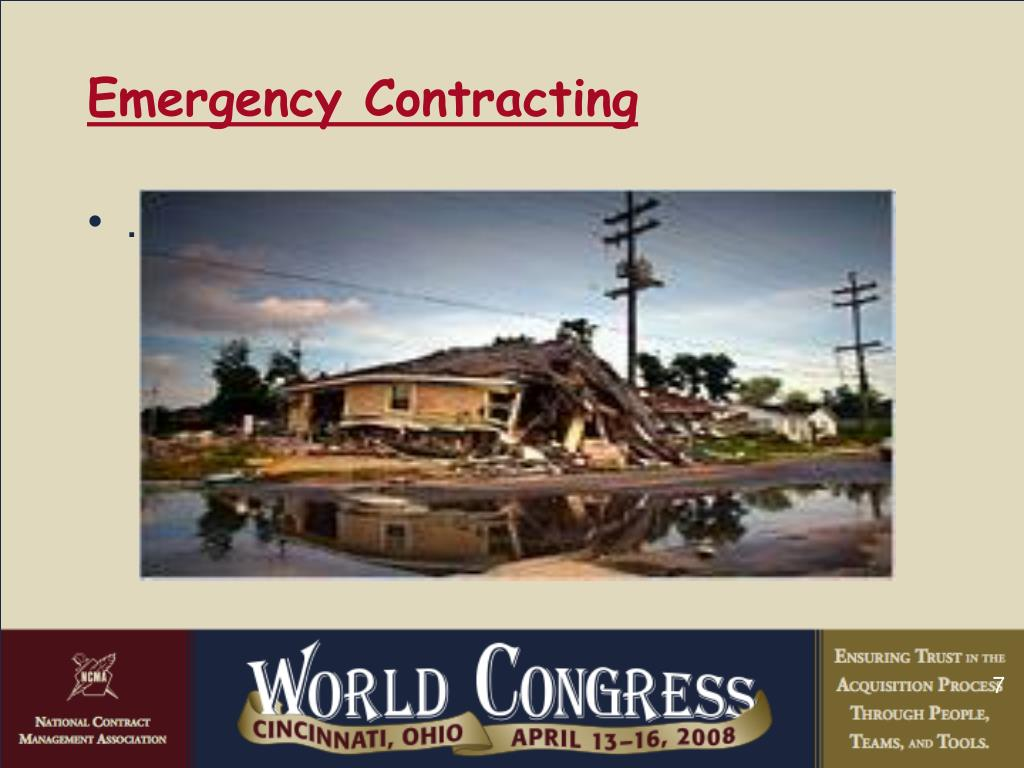 Emergency Contracting