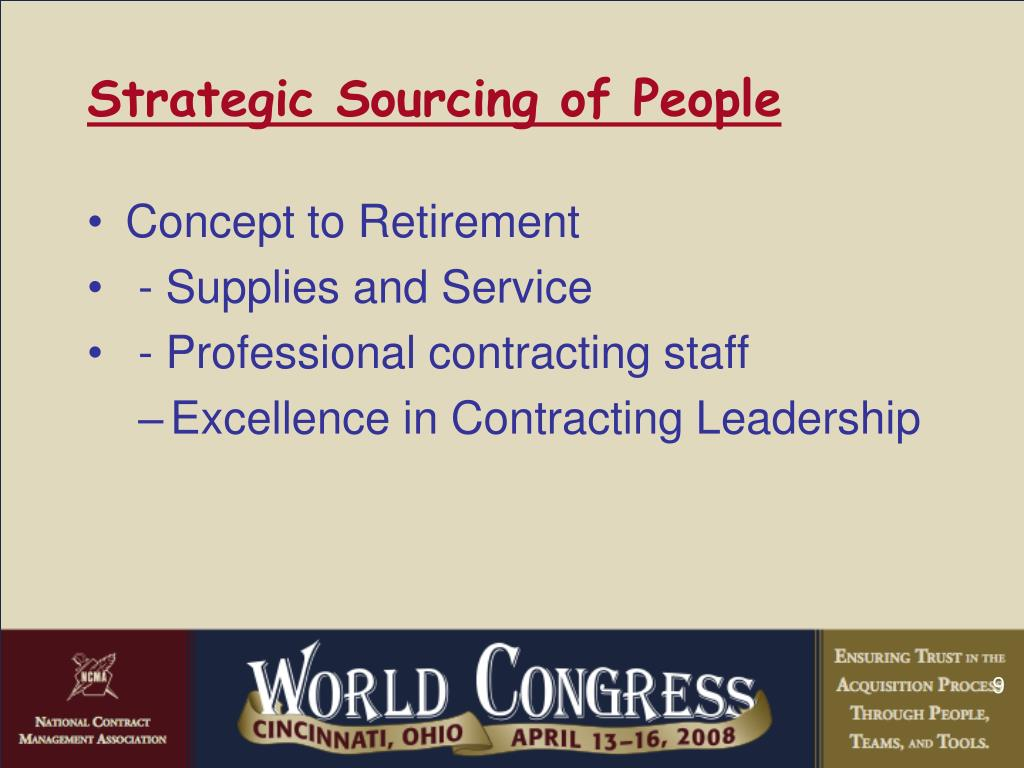 Strategic Sourcing of People