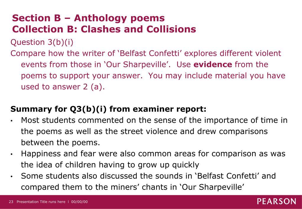 Section B – Anthology poems