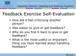 feedback exercise self evaluation