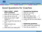 good questions for coaches