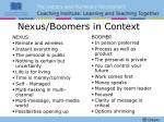 nexus boomers in context