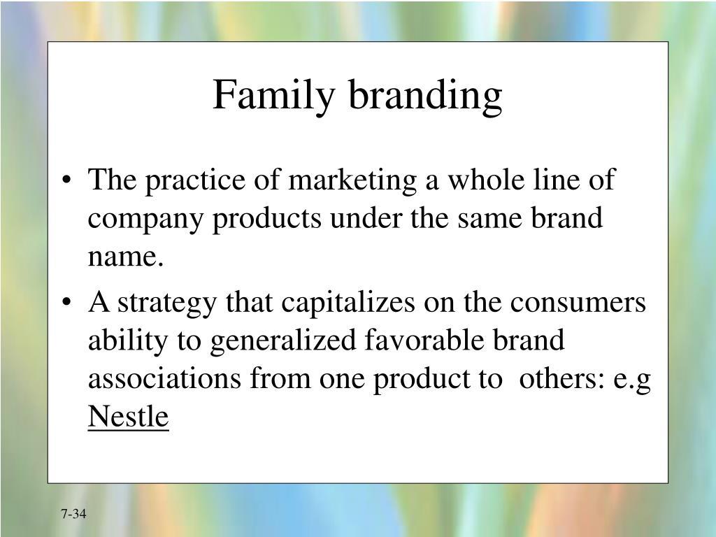 Family branding