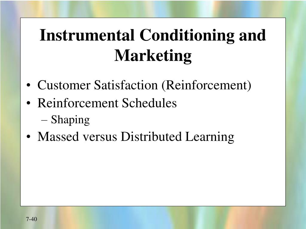 Instrumental Conditioning and Marketing