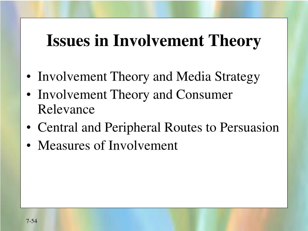 Issues in Involvement Theory