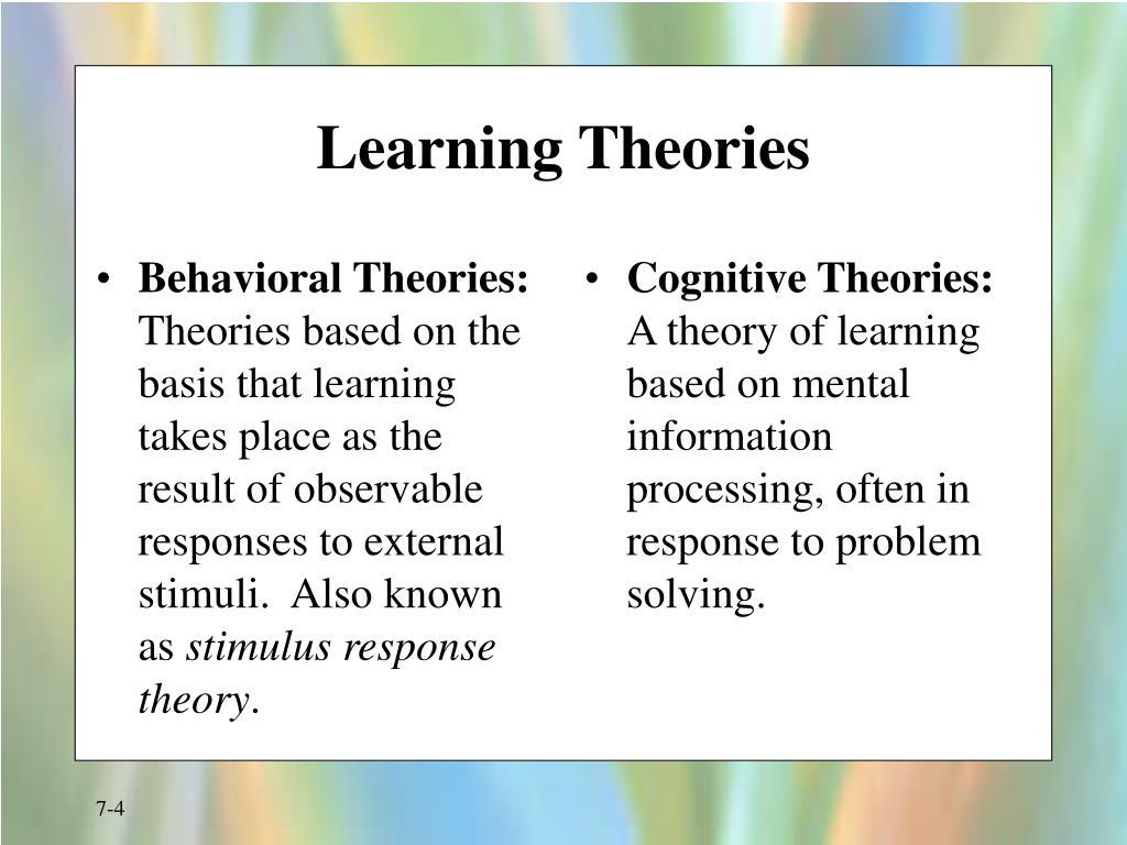 Behavioral Theories: