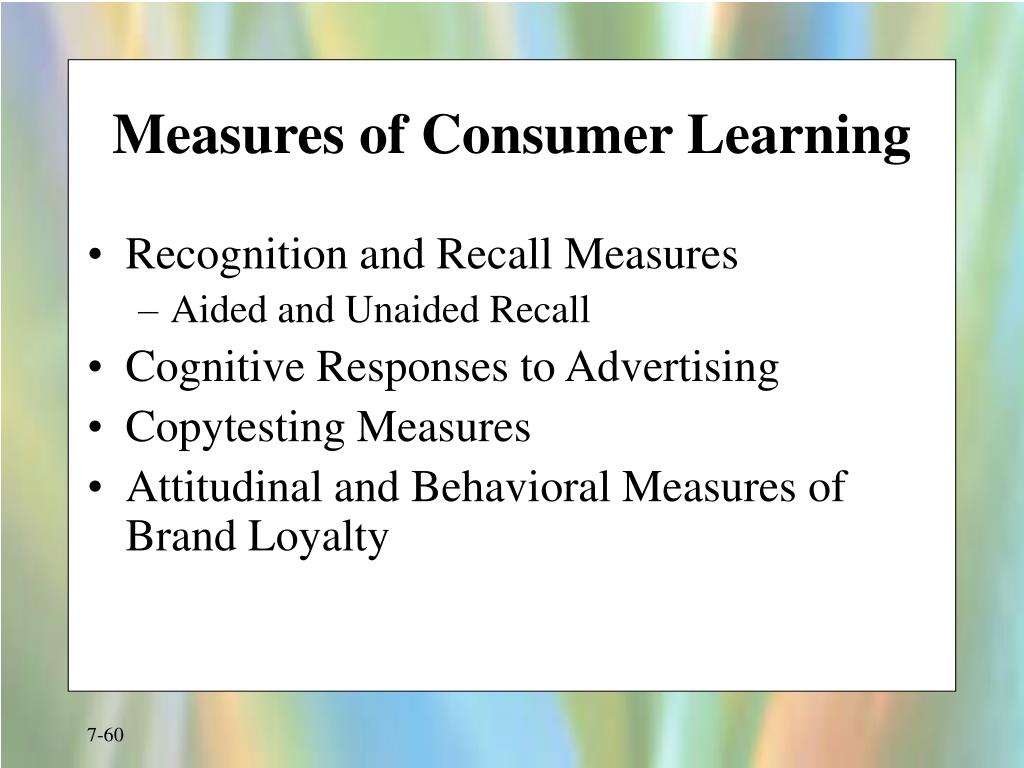 Measures of Consumer Learning