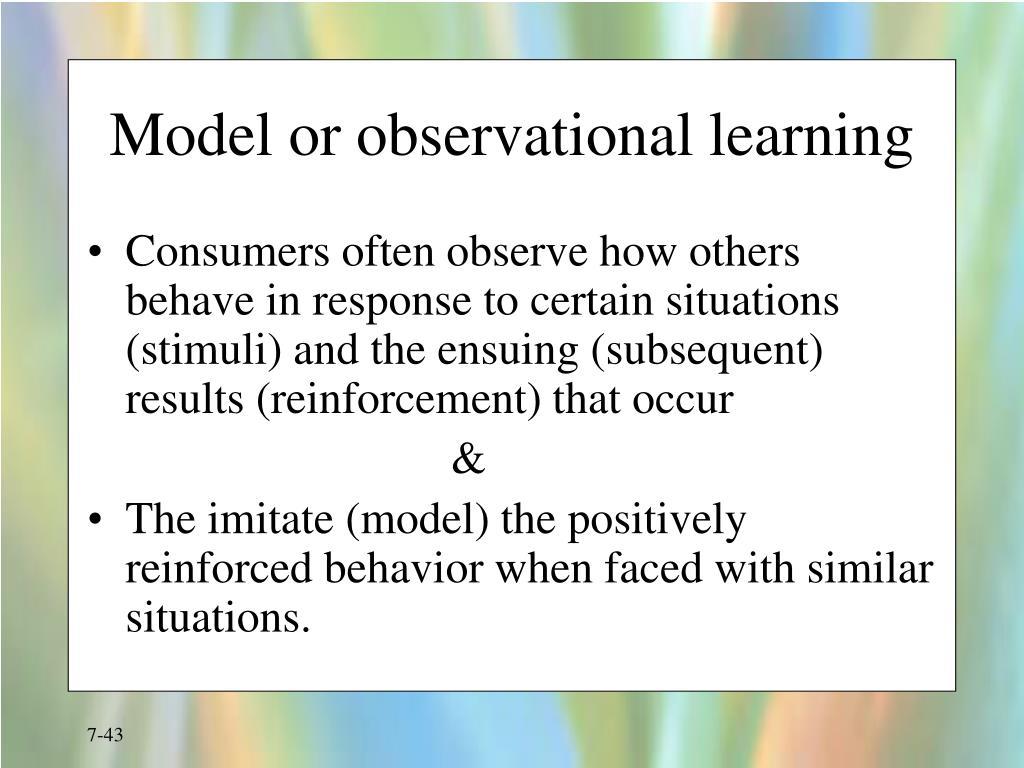 Model or observational learning