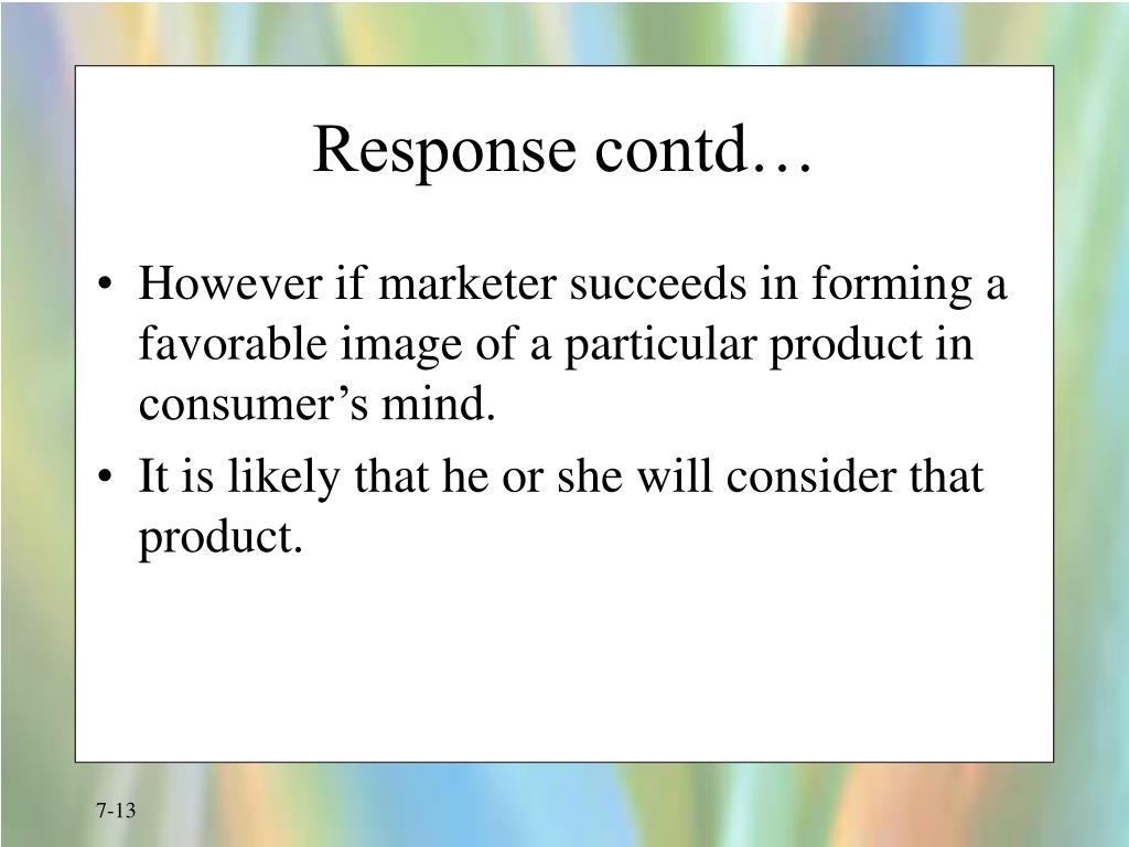 Response contd…