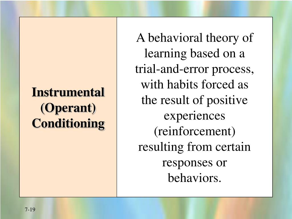 Instrumental (Operant) Conditioning