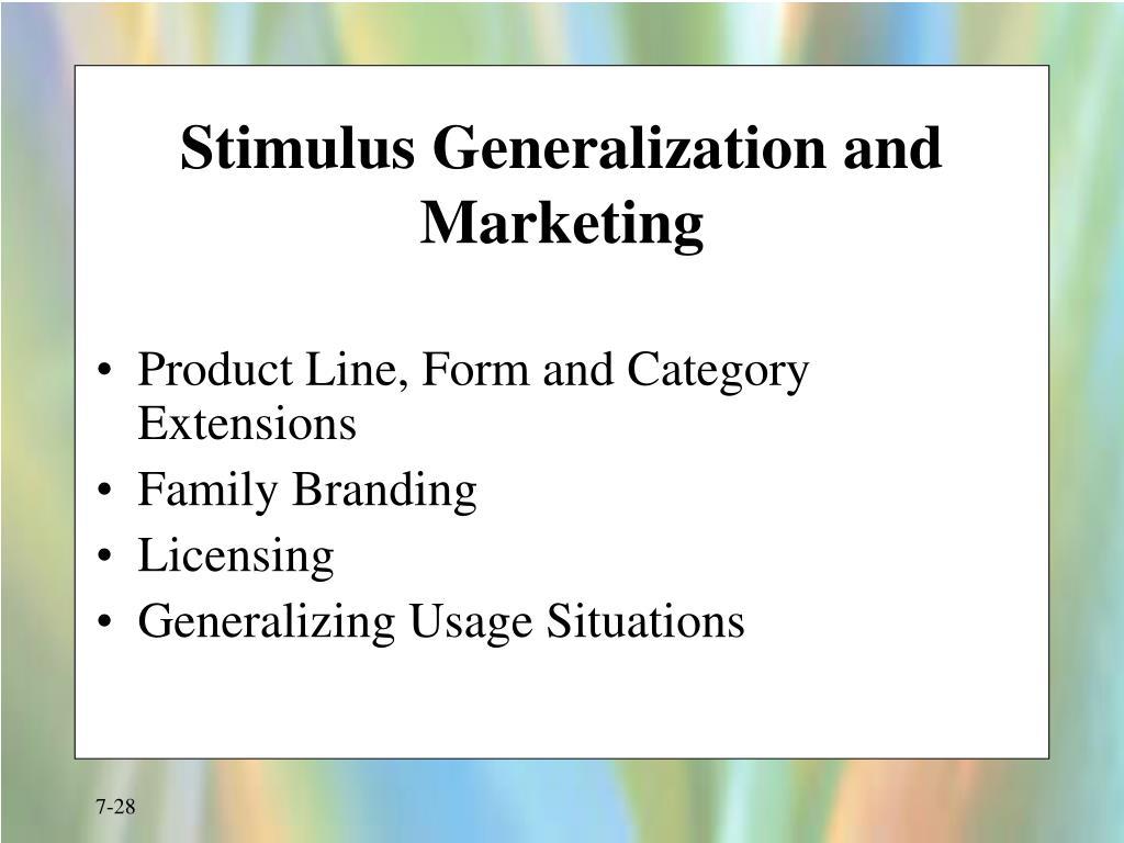 Stimulus Generalization and Marketing