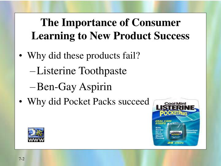 The importance of consumer learning to new product success