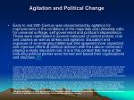 agitation and political change