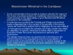 westminster whitehall in the caribbean