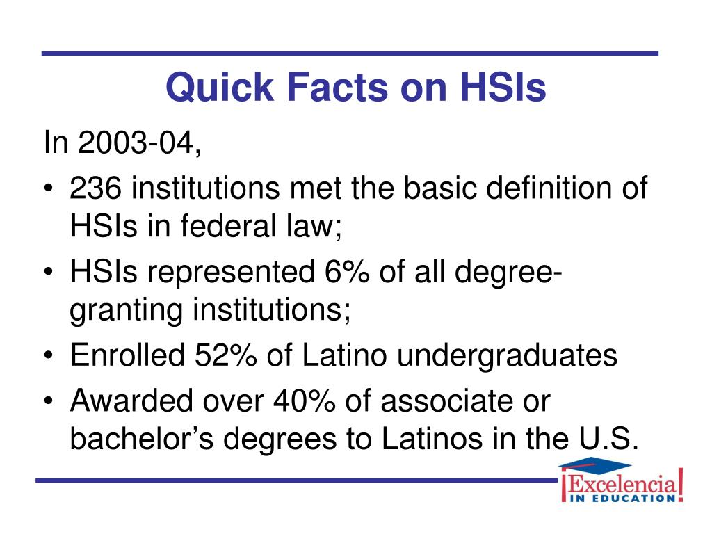 Quick Facts on HSIs