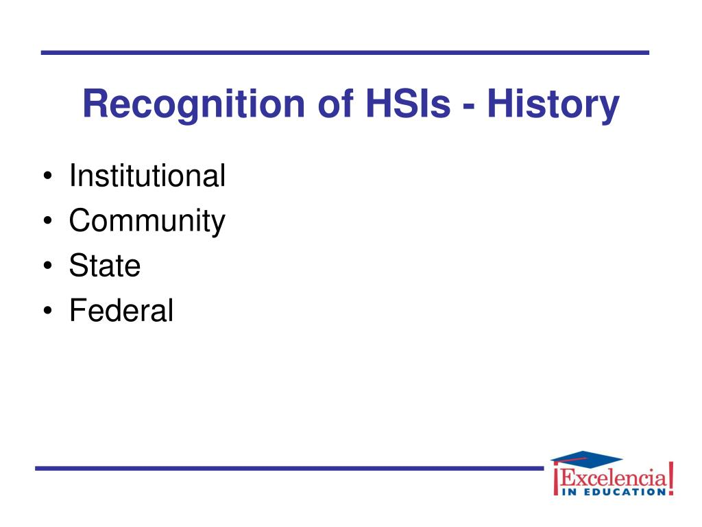 Recognition of HSIs - History