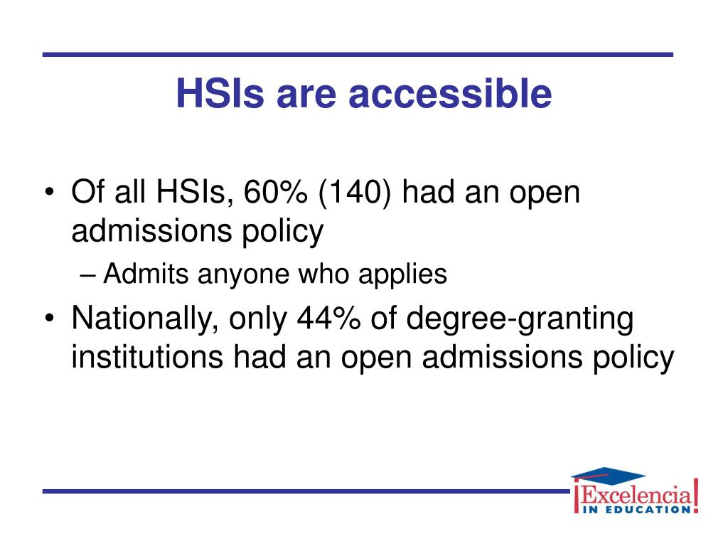 HSIs are accessible