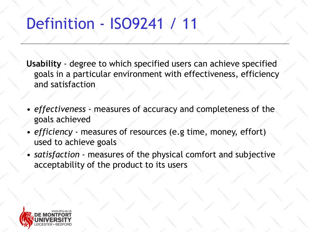 Definition - ISO9241 / 11
