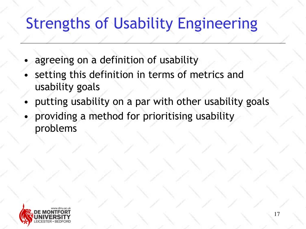 Strengths of Usability Engineering