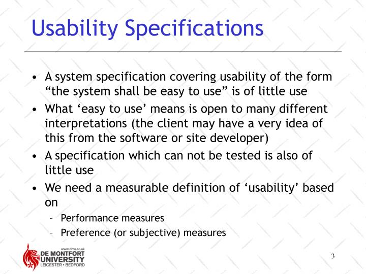 Usability specifications3
