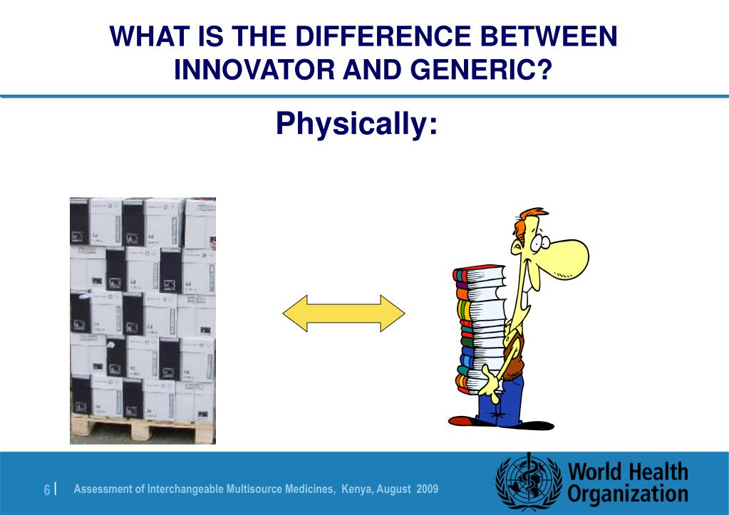 WHAT IS THE DIFFERENCE BETWEEN INNOVATOR AND GENERIC?