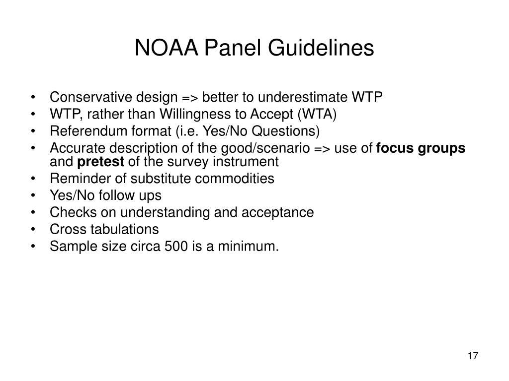 NOAA Panel Guidelines