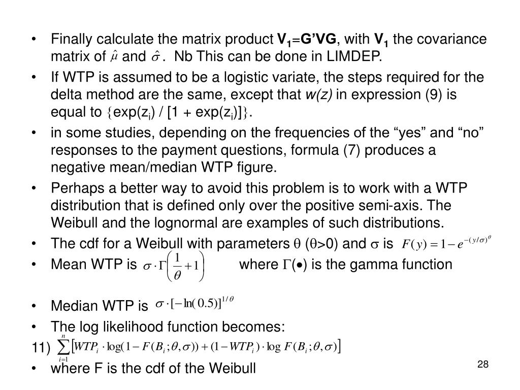 Finally calculate the matrix product