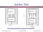 ad hoc test