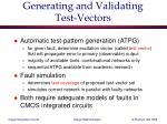 generating and validating test vectors
