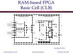 ram based fpga basic cell clb