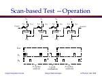 scan based test operation