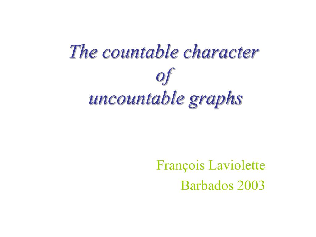 the countable character of uncountable graphs l.