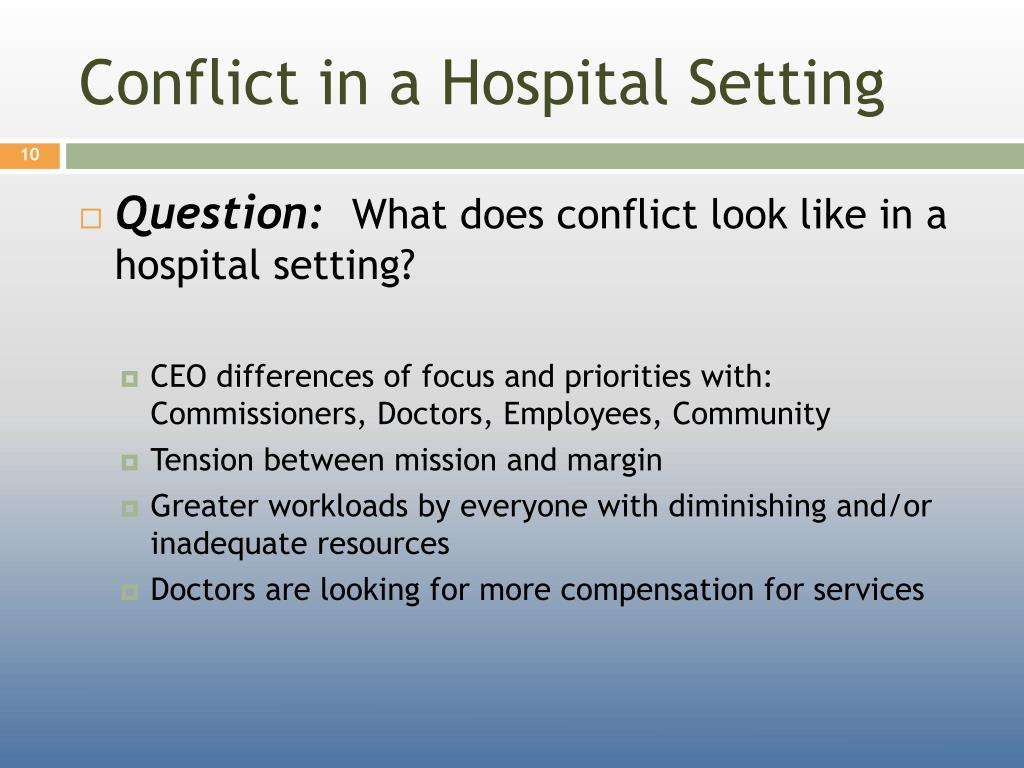 Conflict in a Hospital Setting